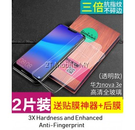 Huawei Nova 3e Twin Pack Bonaier Tempered Glass Screen Protector