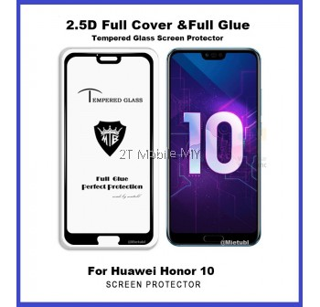 Huawei Honor 10 Full Glue Coverage Colour Tempered Glass Screen Protector