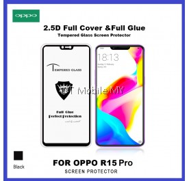 Oppo R15 Pro Full Glue Coverage Colour Tempered Glass Screen Protector