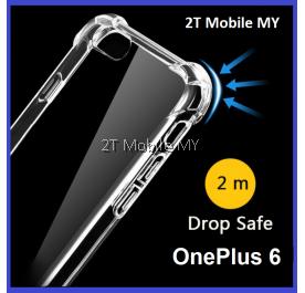 OnePlus 6 1+6 Transparent TPU Shockproof Bumper Antidrop Case Cover