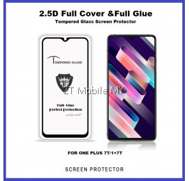 OnePlus 7T / OnePlus 6 / 1+7T / 1+6 Full Glue Cover Tempered Glass Screen Protector
