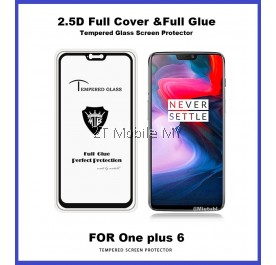 OnePlus 6 1+6 Full Glue Coverage Colour Tempered Glass Screen Protector