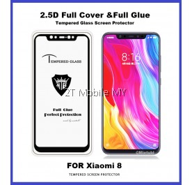 XiaoMi Mi8 Full Glue Coverage Colour Tempered Glass Screen Protector