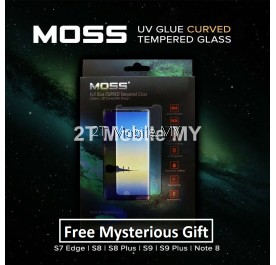 MOSS UV Full Glue Tempered Glass 9H Samsung Note 8 S8 S9 Plus S7 Edge