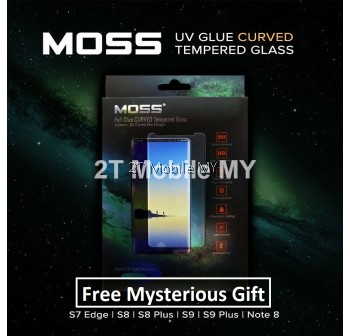 MOSS UV Full Glue Tempered Glass 9H Samsung Note 8 S8 S9 Plus S7 Edge