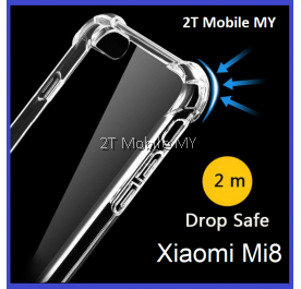 XiaoMi Mi8 Transparent TPU Shockproof Bumper Anti Drop Case Cover
