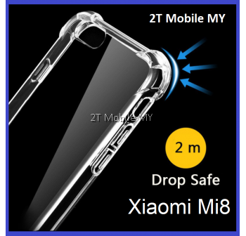 XiaoMi Mi8 Transparent TPU Shockproof Bumper Anti Drop Case Cover