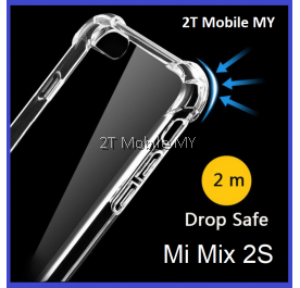 XiaoMi Mi Mix 2S Transparent TPU Shockproof Bumper Anti Drop Case Cover