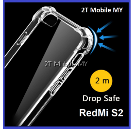 XiaoMi RedMi S2 Transparent TPU Shockproof Bumper Anti Drop Case Cover