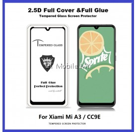 XiaoMi Mi A3 / CC9E / CC9 / Mi A2 Lite Full Glue Cover Tempered Glass Screen Protector