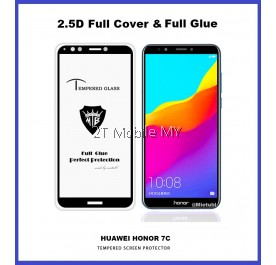 Huawei Honor 7C Full Glue Coverage Colour Tempered Glass Screen Protector