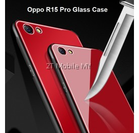 Oppo R15 Pro Full Cover Tempered Glass Phone Case Bumper Cover