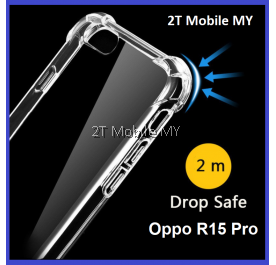 Oppo R15 Pro Transparent TPU Shockproof Bumper Anti Drop Case