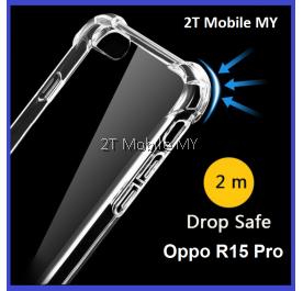 Oppo R15 Pro Transparent TPU Shockproof Bumper Anti Drop Case