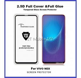 Vivo NEX Full Glue Coverage Colour Tempered Glass Screen Protector