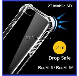 XiaoMi RedMi 6 / RedMi 6A Soft Transparent TPU Shockproof Bumper Anti Drop Case