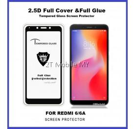XiaoMi RedMi 6 / 6A Full Glue Coverage Colour Tempered Glass Screen Protector