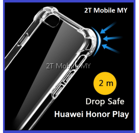 Huawei Honor Play Soft Transparent TPU Shockproof Bumper Anti Drop Case Cover