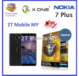 Nokia 7 Plus X-One Extreme Shock Eliminator Screen Protector 3rd Generation