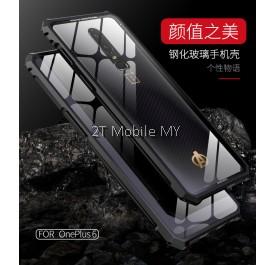 OnePlus 6 1+6 Metal Shockproof Armor Glass Matte Anti Shock Case