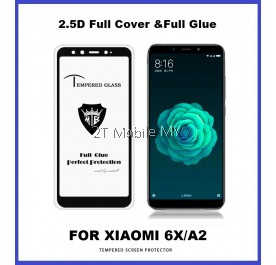 XiaoMi Mi A2 / RedMi 6X Full Glue Coverage Tempered Glass Screen Protector