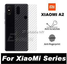 XiaoMi Mi A2 / RedMi 6X Back Carbon Matte Film Screen Protector Anti Fingerprint