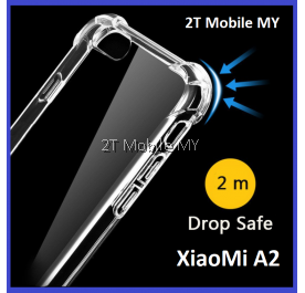 XiaoMi Mi A2 / RedMi 6X Soft Transparent TPU Shockproof Bumper Anti Drop Case