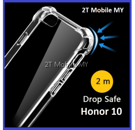 Huawei Honor 10 Soft Transparent TPU Shockproof Bumper Anti Drop Case Cover