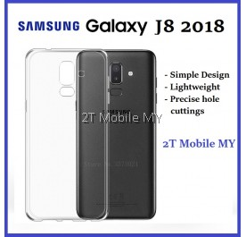 Samsung Galaxy J8 2018 Soft Transparent Case Slim TPU Cover