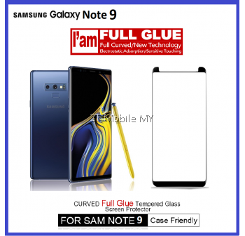Samsung Galaxy Note 9 Full Glue Tempered Glass Screen Protector 3D
