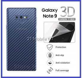 Samsung Galaxy Note 9 Back Carbon Matte Film Screen Protector Anti Fingerprint