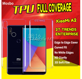 XiaoMi Mi A2 Full Coverage Screen Protector 3D Soft Film No White Edge