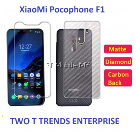 XiaoMi Pocophone F1 Matte Diamond Carbon Back Screen Protector