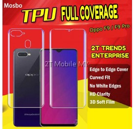 Oppo F9 / F9 Pro Full Coverage Screen Protector 3D Soft Film No White Edge