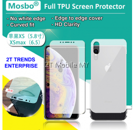 Apple iPhone XS Max XS XR Full Coverage Screen Protector 3D Soft Film
