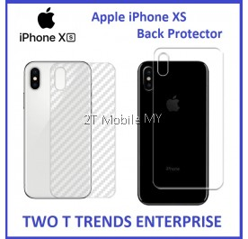 Apple iPhone XS Max XS XR Back Protector Carbon Clear Matte Anti-Fingerprint