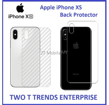 Apple iPhone 11 / 11 Pro / 11 Pro Max / XS Max XS XR Back Protector Carbon Clear Matte Anti-Fingerprint
