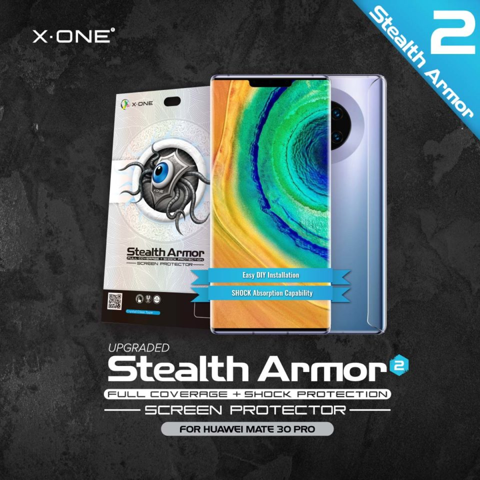Huawei Mate 30 Pro / Mate 20 Pro X-One Case Friendly Stealth Armor Ver 2 Screen Protector