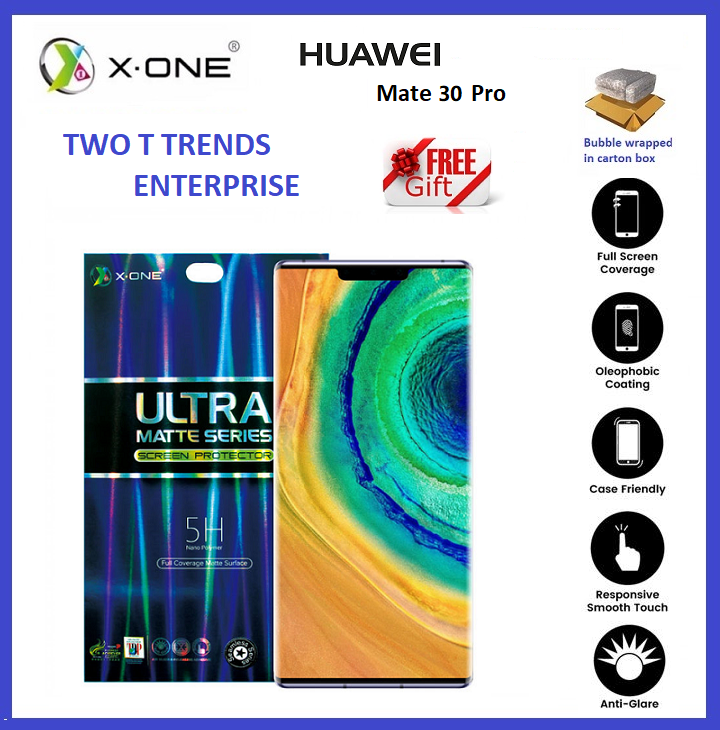 Huawei Mate 30 Pro / Mate 20 Pro X-One Matte Screen Protector Anti Fingerprint Case Friendly