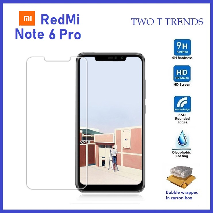 XiaoMi RedMi Note 6 Pro Tempered Glass Screen Protector 2.5D