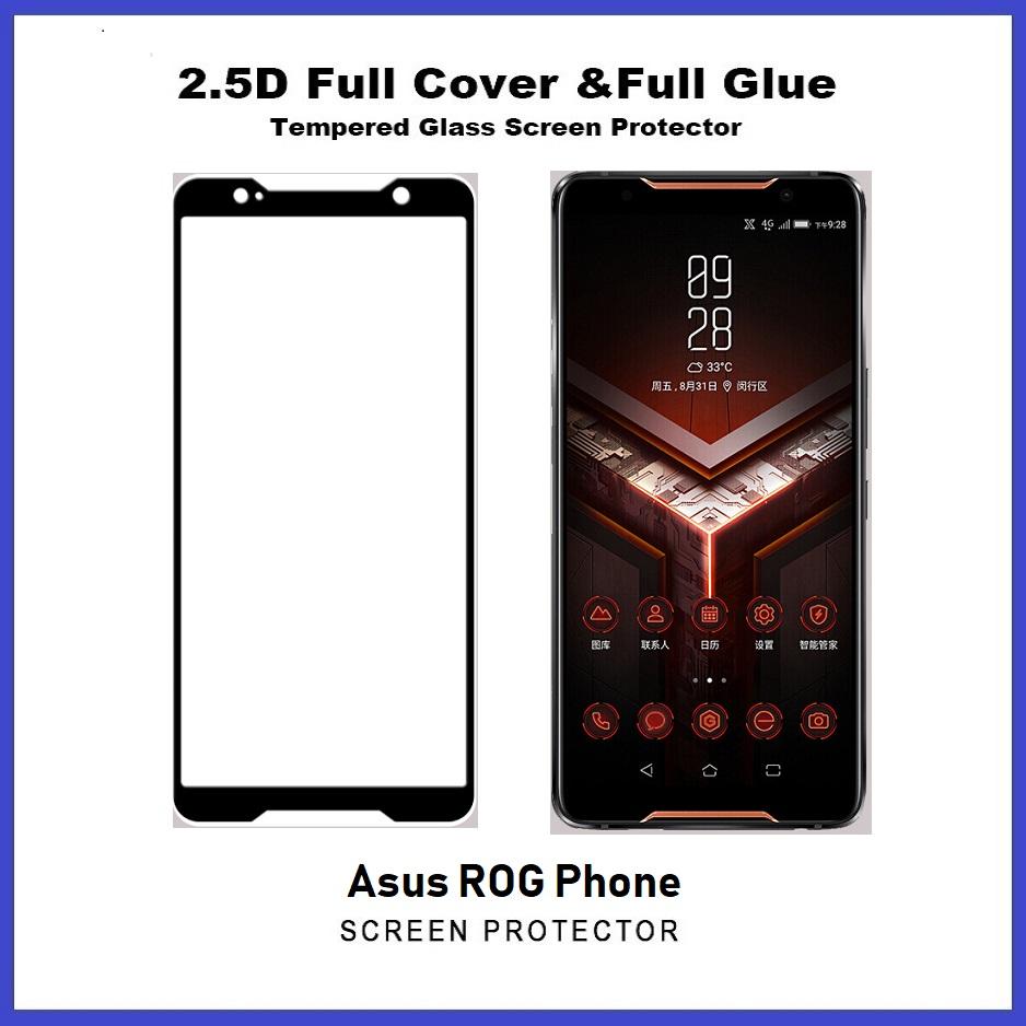 Asus ROG Phone / ROG Phone 2 Full Glue Coverage Tempered Glass Screen Protector