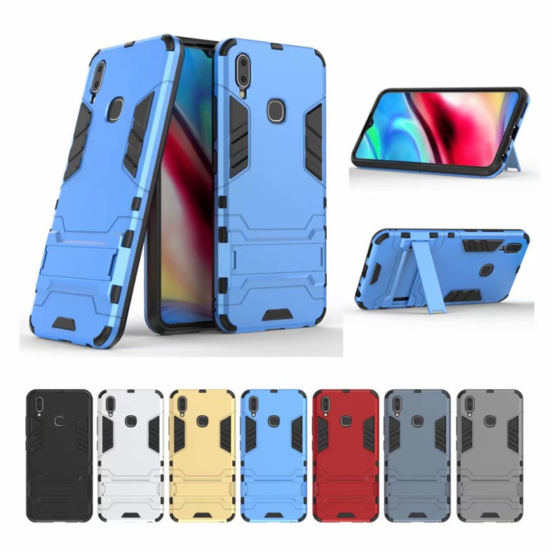 Vivo Y91 Ironman Transformer Kickstand Trendy Bumper Case Cover