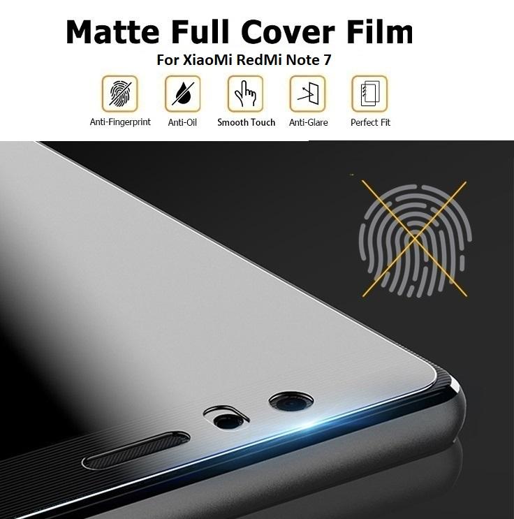 XiaoMi RedMi Note 7 Matte Anti-Fingerprint Full Coverage 3D Screen Protector