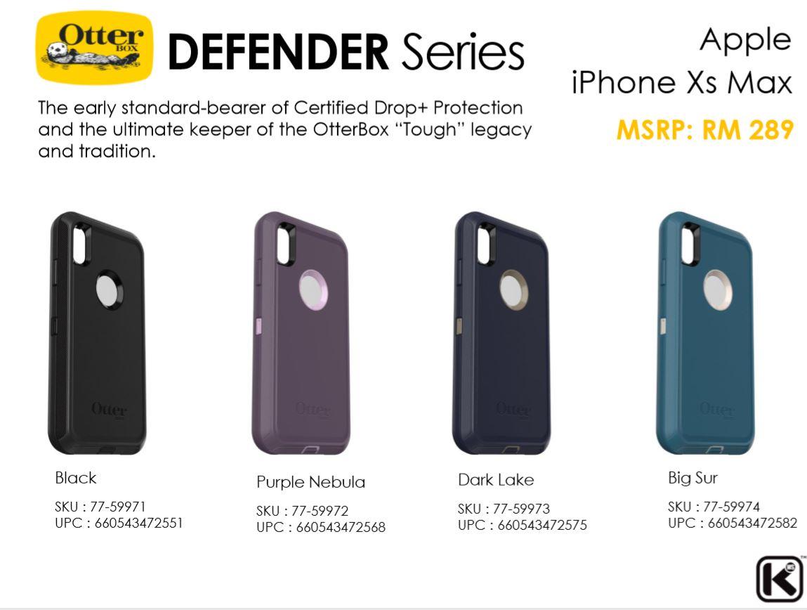 huge discount 3020a 5df3d Apple iPhone XS / XS Max / XR / X OtterBox Defender Series Case Bumper  Cover ORI