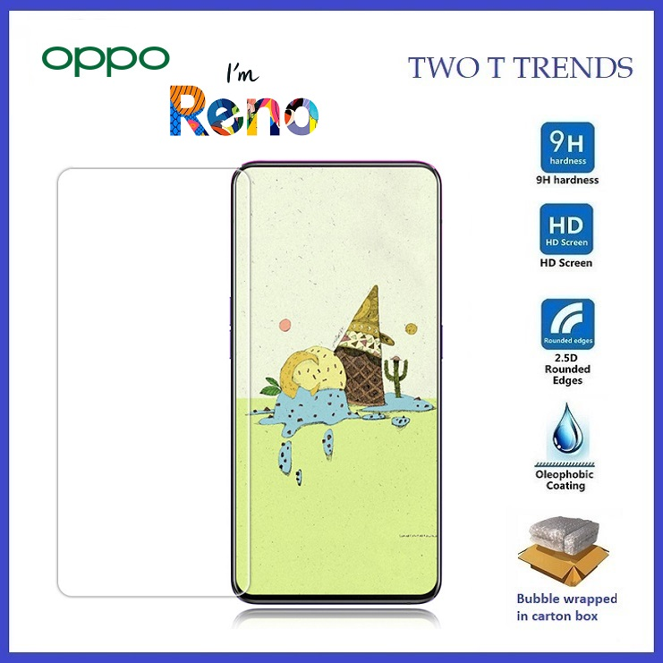 Oppo Reno Tempered Glass Screen Protector 2.5D