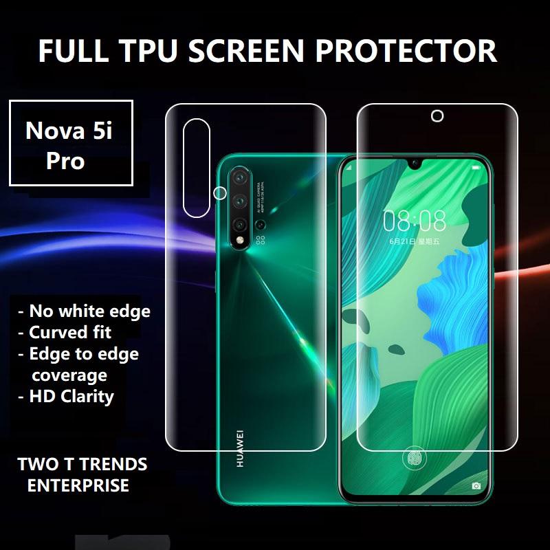 Huawei Nova 5i Pro Front Back Full Coverage 3D Screen Protector