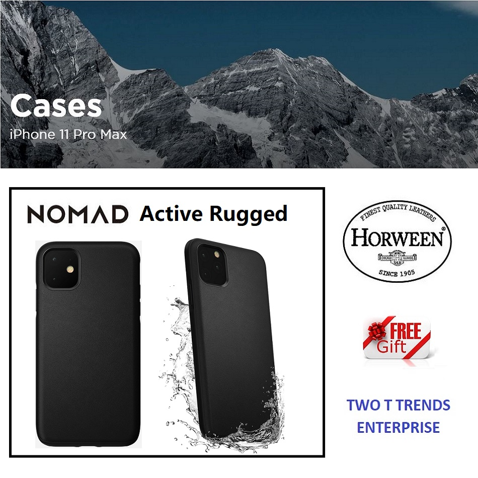 Apple iPhone 11 / iPhone 11 Pro / iPhone 11 Po Max Nomad Active Rugged Case Water Resistant Leather Case Bumper Cover ORI