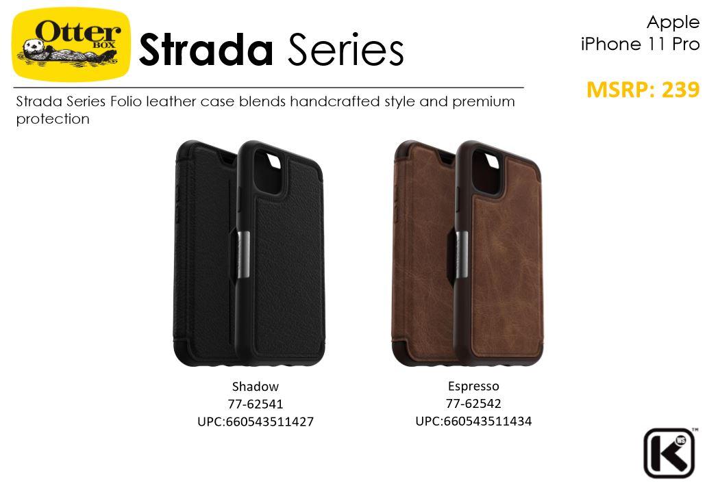 Apple iPhone 11 / iPhone 11 Pro / iPhone 11 Pro Max Otterbox Strada Leather Flip Case Bumper Cover ORI