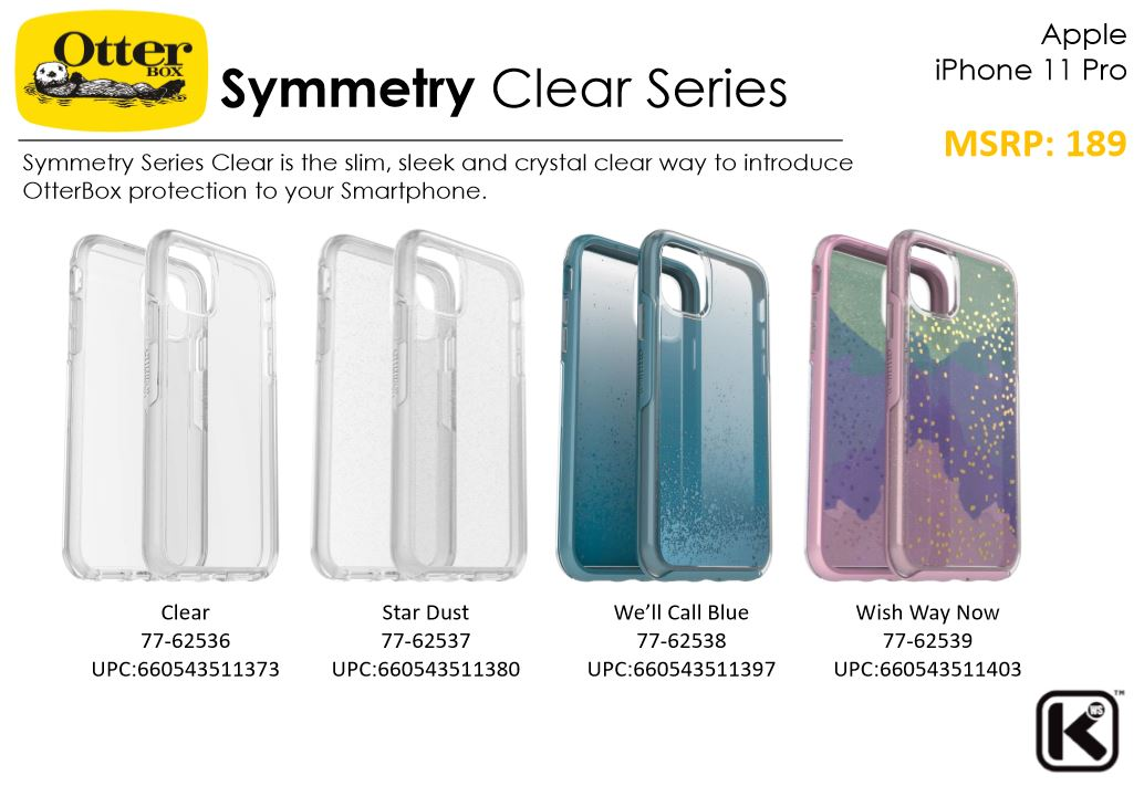 Apple iPhone 11 / iPhone 11 Pro / iPhone 11 Pro Max OtterBox Symmetry Clear Case Bumper Case 1 Year Warranty ORI