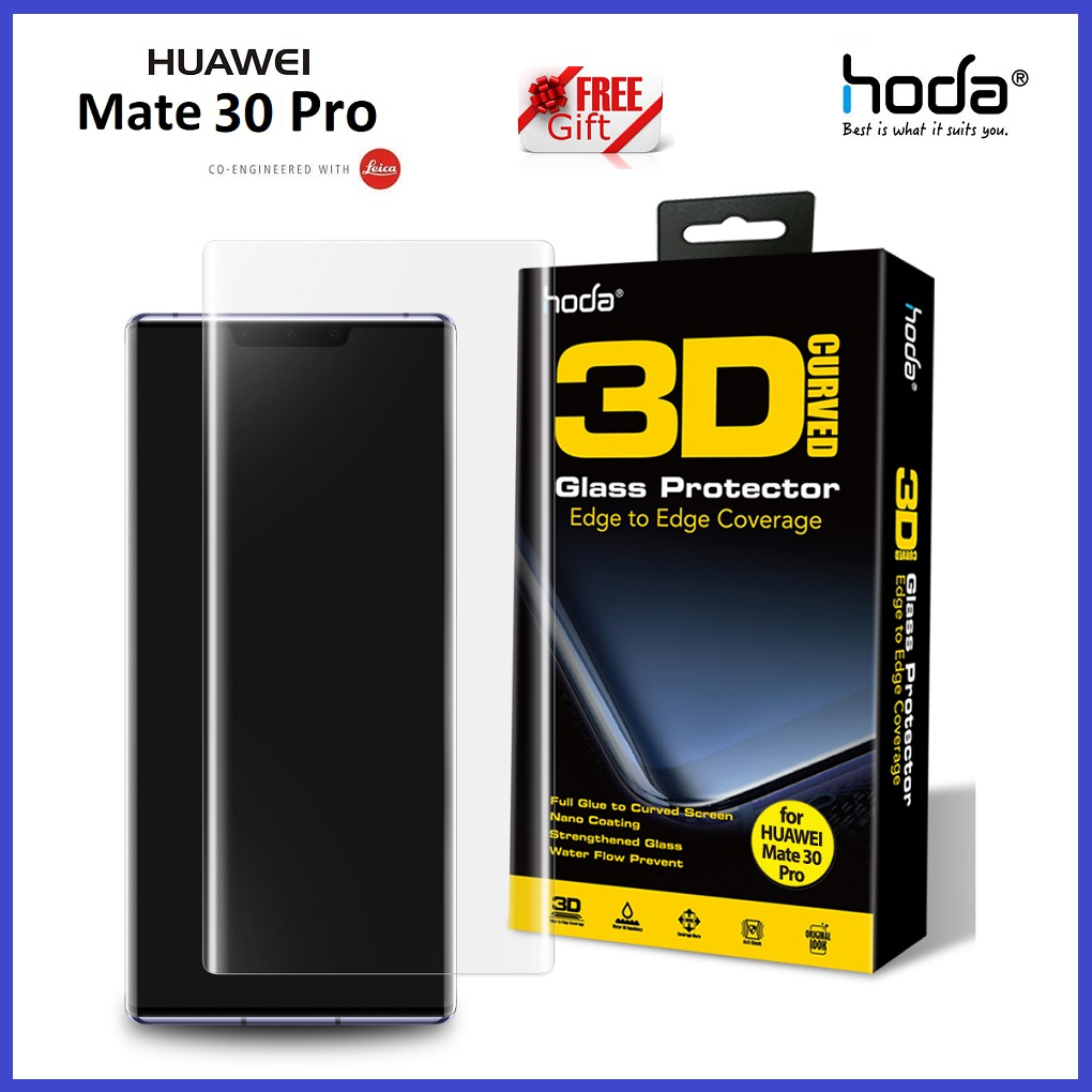 Huawei P40 Pro / Mate 30 Pro / P30 Pro / Mate 20 Pro Hoda 3D Full Coverage Full Glue Tempered Glass (With UV Light)